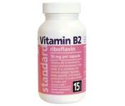 Vitamín B2 - Riboflavín - 20 mg - 100 kapsúl
