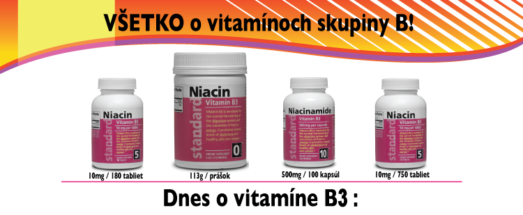 Vitamín B3 - Niacin
